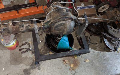 8.8 Lincoln Mark VII Rear Axle Prep for the Race Car – Part Deux